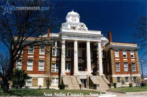 San Saba County Courthouse in San Saba, Texas