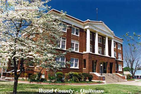 Wood County Courthouse in Quitman, Texas
