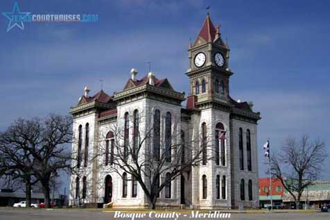 Bosque County Courthouse in Meridian, Texas