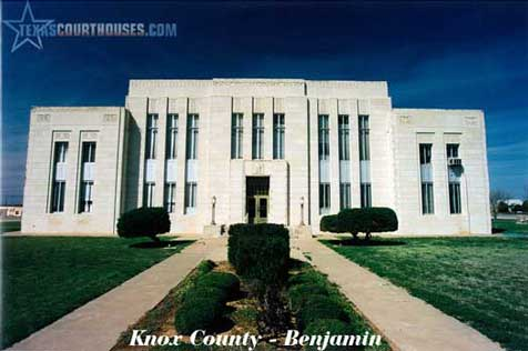 Knox County Courthouse in Benjamin, Texas